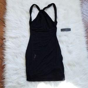 NWT LULU'S Little Black Dress, Open Back